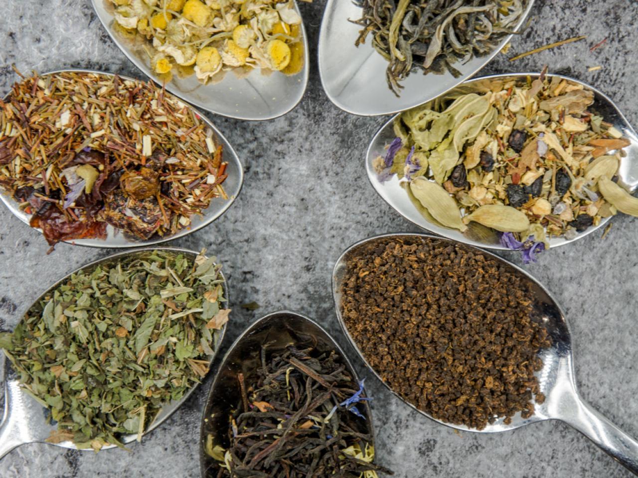 Verschillende soorten theesmaken met Gio Leaves