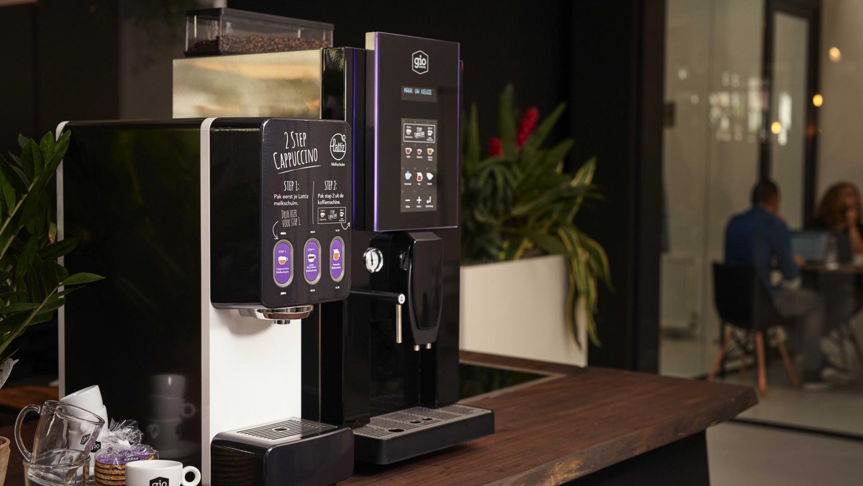 Gio Coffee koffiecorner met de Lucca Lattiz
