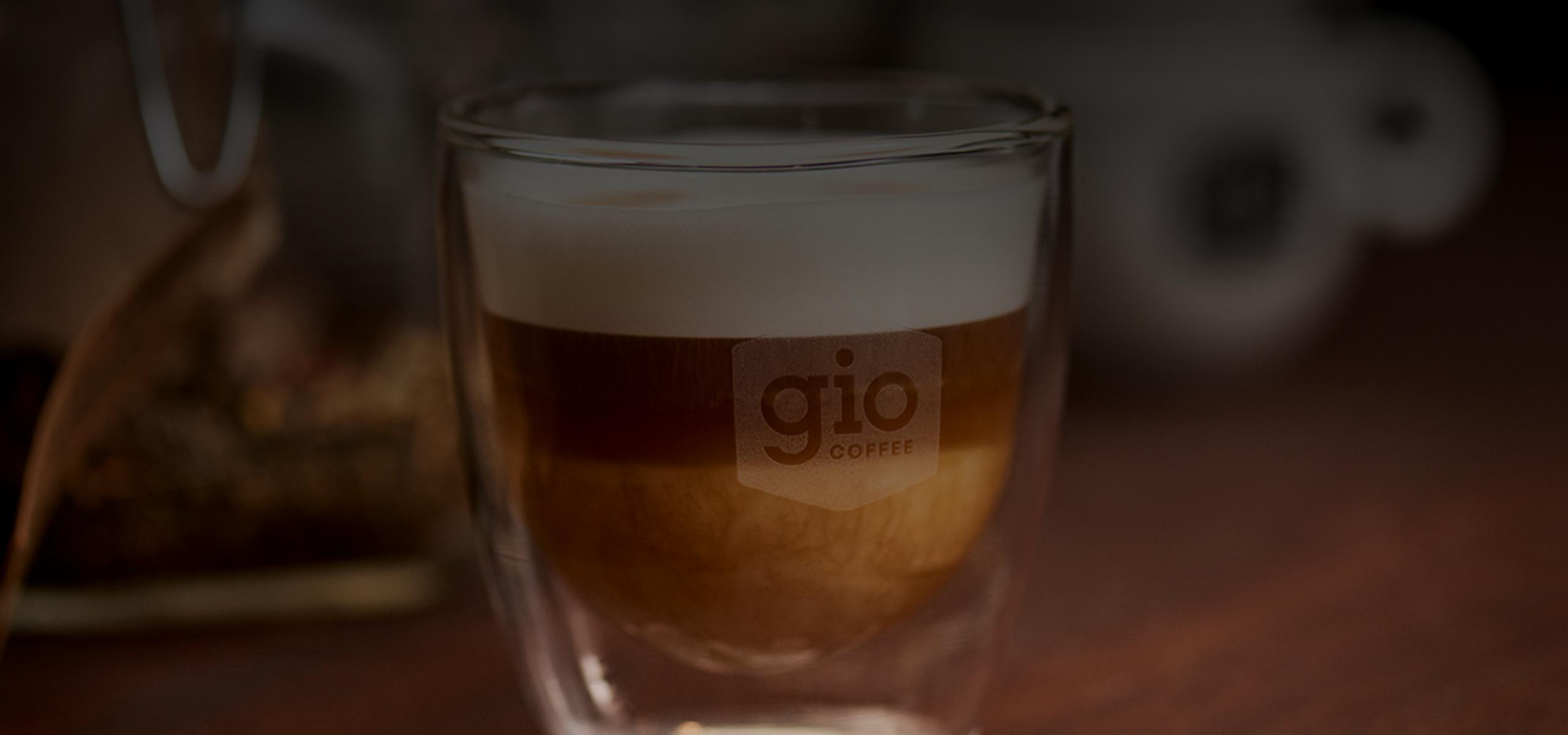 Latte Macchiato voor op kantoor met Gio Coffee