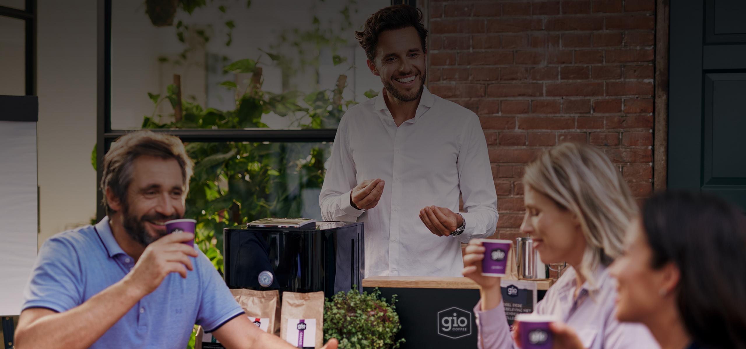 Gio Coffee koffieproeverij op kantoor