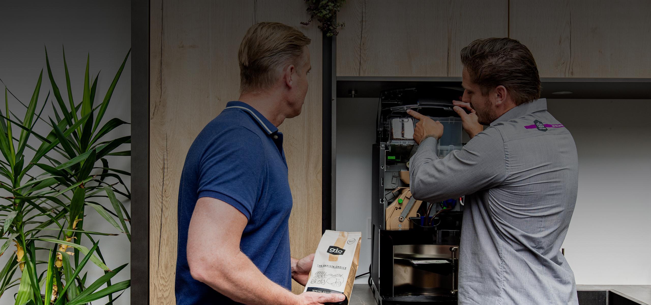 Gio Coffee service en onderhoud