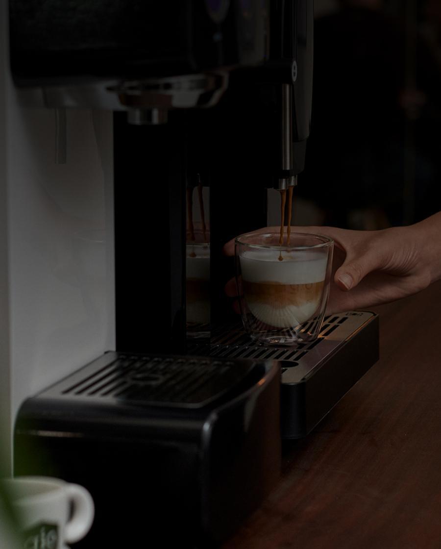 Gio Coffee cappuccino voor op de werkvloer