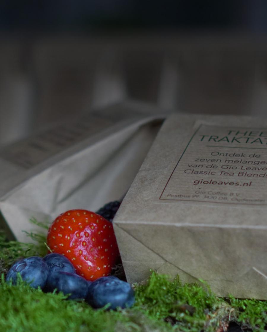 Gio Leaves proefpakket thee voor op de werkvloer