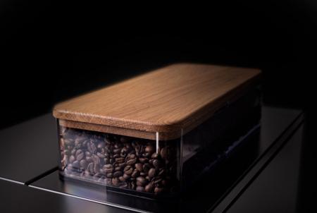 Gio Coffee Lagundo koffiebonenmachine detailshot bonenreservoir