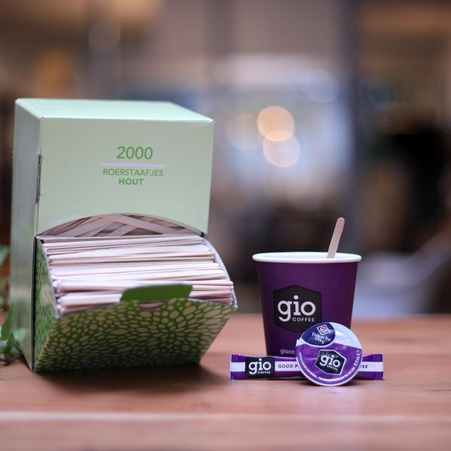 Gio Coffee Houten roerstaafjes