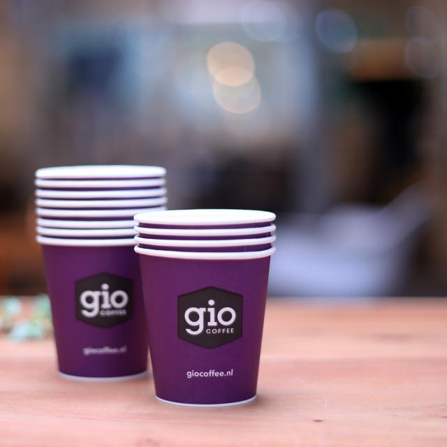 Kartonnen Gio Coffee bekers voor zakelijk gebruik
