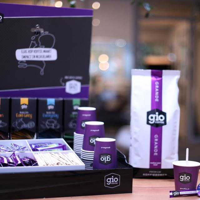 Gio Coffee workstation voor een complete koffiecorner