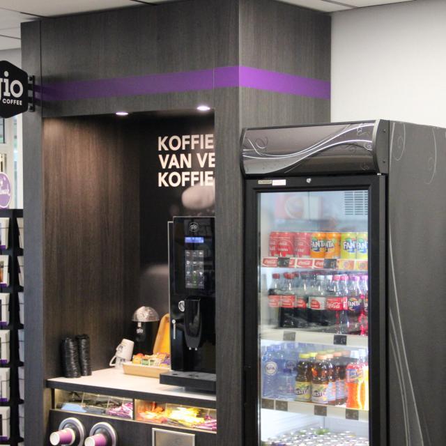 Koffiecorner Gio Coffee bij Opel Centrale