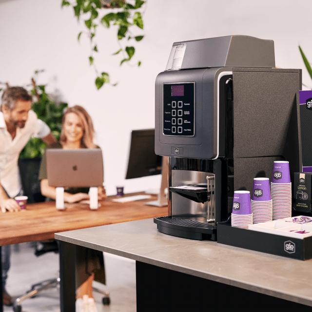 Koffiemachine-Koffiecorner-Complete koffiehoek-Gio Coffee-Koffiebonenautomaat