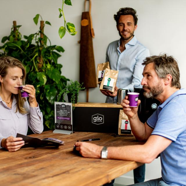 Koffieproeverij bij jou op kantoor met Gio Coffee