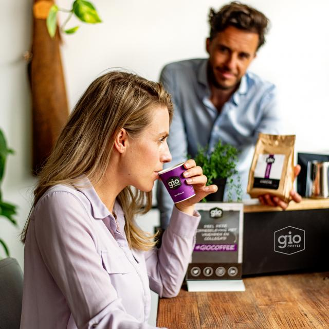 Ervaar de Gio Coffee koffieproeverij op kantoor